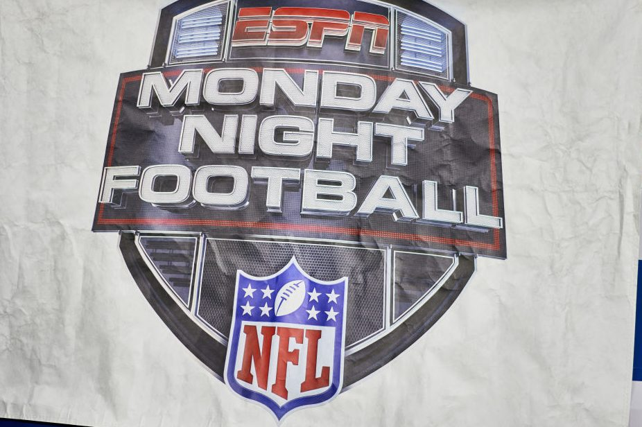 "A detailed view of an ESPN ""Monday Night Football"" banner. (Robin Alam/Icon Sportswire via Getty)"